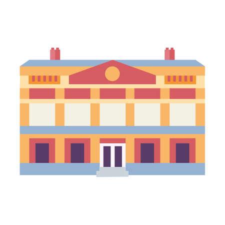 Novi Sad Hungrarian Theater Icon in Flat