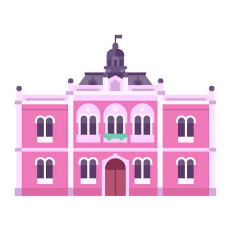 Novi Sad Bishop Palace Icon in Flat
