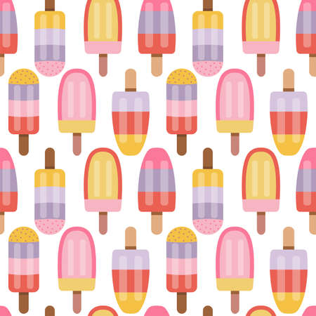Fruity Ice Cream Sorbet and Pattern