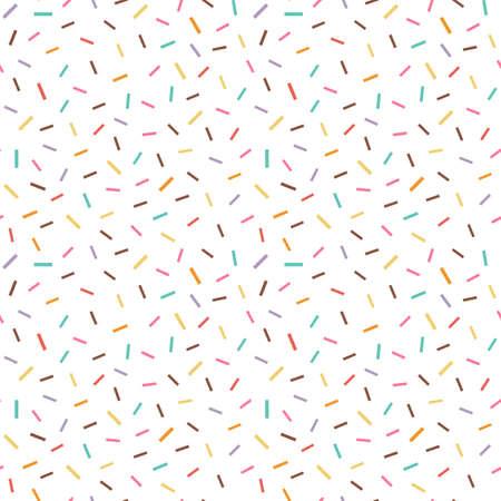 Colorful Fancy Sprinkles Seamless Pattern in Flat
