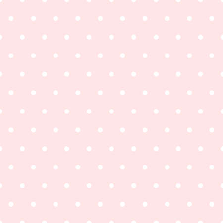 Pink Polka Dot Seamless Pattern in Flat