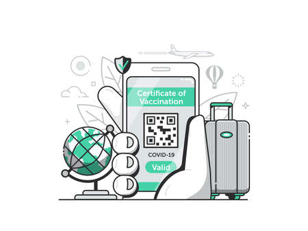 Vaccine Mobile Travel Health Certificate in Line