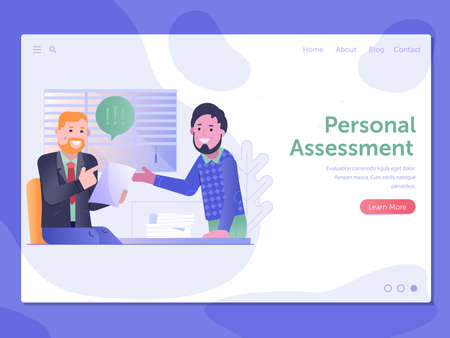 Personal Assessment Web Site Page Banner Template