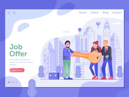 Get Job Offer and Relocation Opportunity Concept