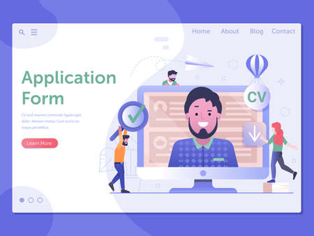 Job Application Form Web Page Landing Template