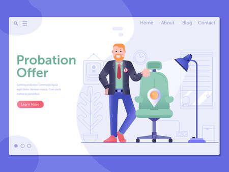 Probation Job Offer Web Landing Page Banner