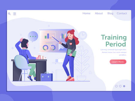 Job Training Period Web Landing Page Banner