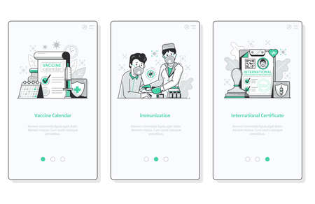 Global Immunity Vaccine Campaign UI Mobile Screens