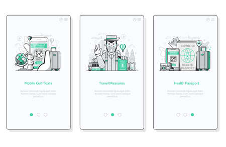 Global Immunity Campaign Mobile App UI Screens Ilustração