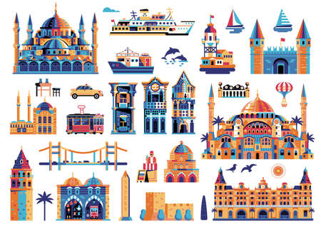 Travel Istanbul Elements and Turkey Clip Arts