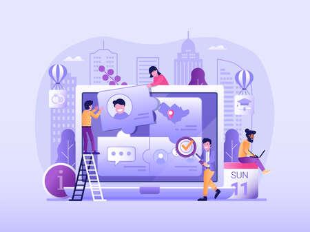 Customer Persona and User Behavior Concept