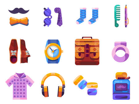 True Man and Gentleman Gifts Icon Set