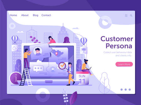 Customer Persona and User Behavior Web Banner