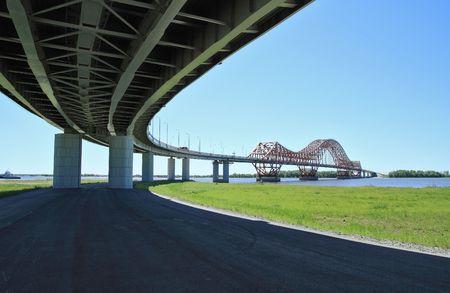 The modern automobile bridge  photo