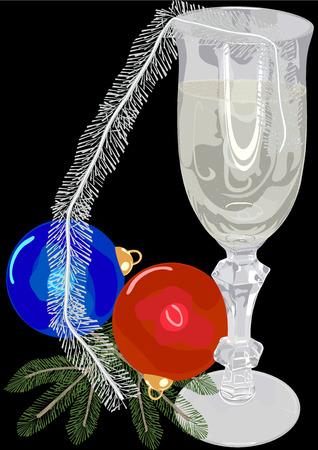 stilllife: New Years still-life  Illustration