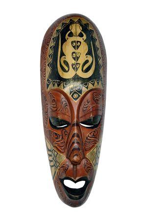 affability: The Indonesian wooden mask of manual work symbolizing calmness, self-scrutiny, affability