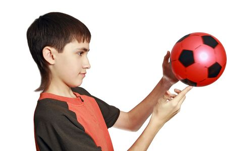 dexterity: Unusual kind of sports-football freestyle. Dexterity in circulation with a ball