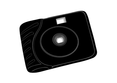 kammare: Film disposable camera.Simple chamber for amateur photographers