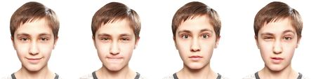 EMOTIONS OF TEENAGER Stock Photo