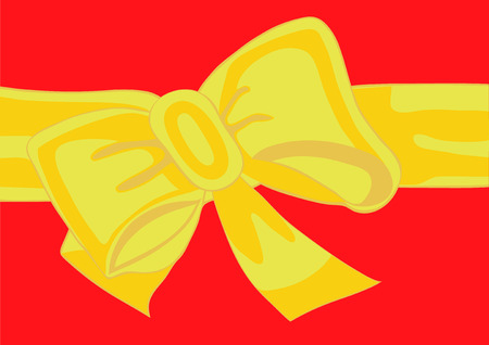 blushing: Celebratory tape and bow, as an element of registration of a gift