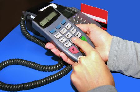 Carrying out of transaction through the electronic bank terminal