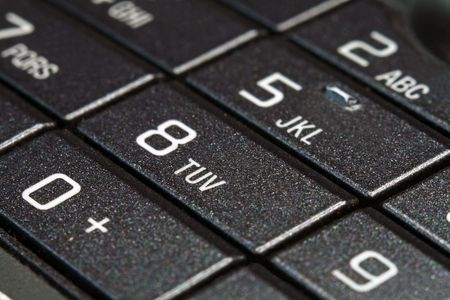 Buttons of a cellular telephone,macro-shooting