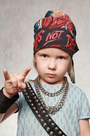 rock hand: Il rock-and-roll � vivo! Archivio Fotografico