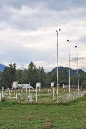 meteorological: Meteorological station.Siberia, Mountain Altai