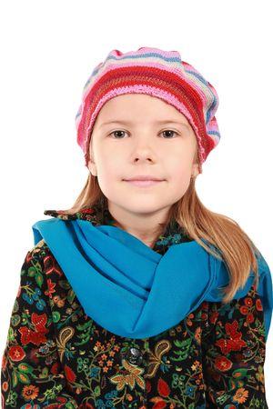 Beautiful 5-year-old girl smiling Stock Photo - 5495517