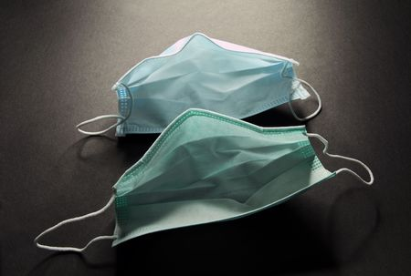 The elementary means of preventive maintenance and protection of breath in medicine-disposable a mask   스톡 콘텐츠