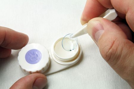 Careful handling of soft contact lenses