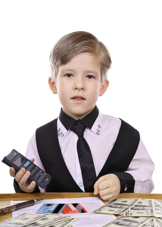 Children s game - the banker, financier  photo
