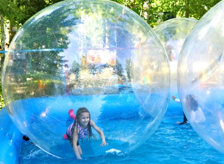Attraction on the water - zorbing