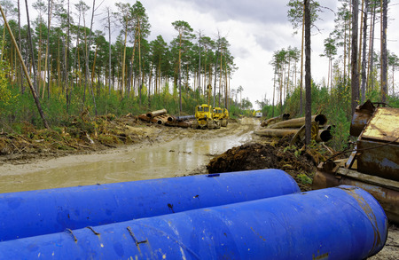gasket: Gasket, pipe replacement in the Siberian taiga
