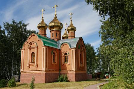 Russia.Omsk Region, the restored Achairy Cross Womens Monastery