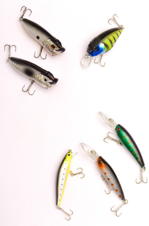 poppers: Fishing lures wobblers and poppers