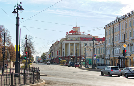Russia,Omsk.View of Ibis hotel in the Central part of the city