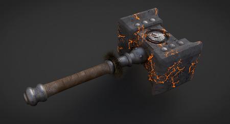 Doomhammer from World of Warcraft Stock Photo