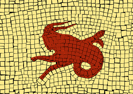 Capricorn zodiac sign in a mosaic style Stockfoto - 110818111