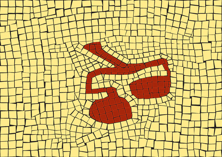 Libra zodiac sign in a mosaic style Stock Illustratie