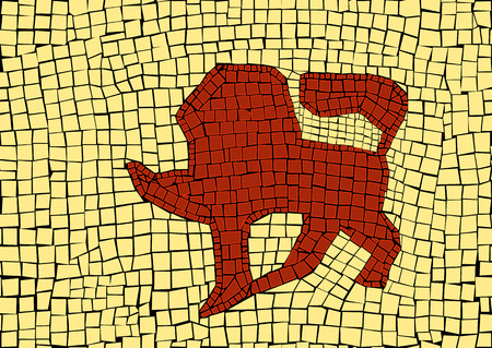 Lion zodiac sign in a mosaic style Stockfoto - 110818114