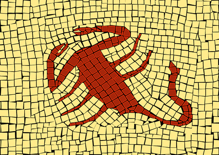 Scorpio zodiac sign in a mosaic style