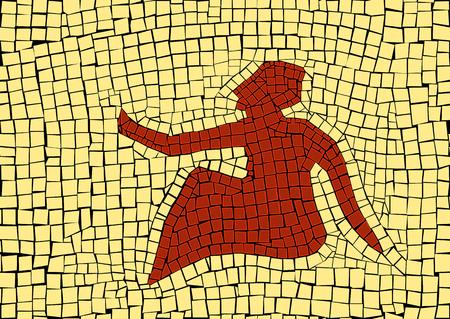 Virgo zodiac sign in a mosaic style