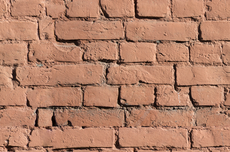 Red old shabby wall. Seamless background Stockfoto