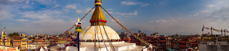 Boudhanath Stupa Nepal Stock Photo