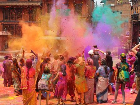 インドのホーリー祭 写真素材