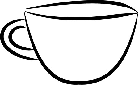 cup no color drawing