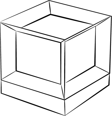 hyper cube design no color 写真素材 - 110726179