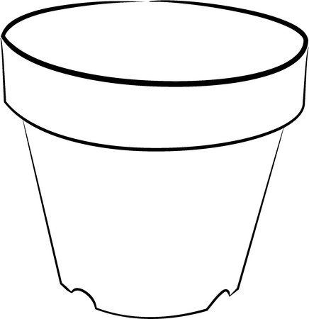 flower pot design no color