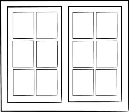 2 windows design no color